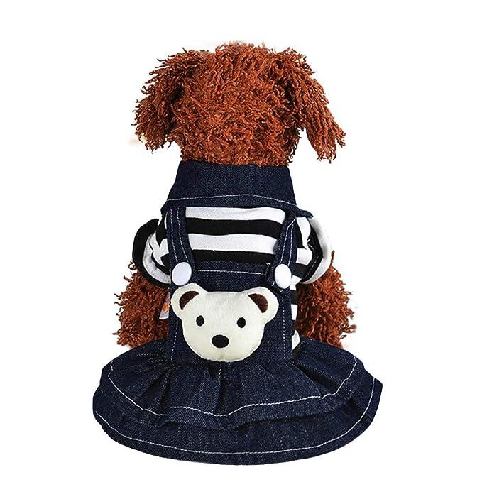 Ropa para Mascotas Invierno,JiaMeng Perro Cachorro Vestido Correa de Gato Falda de Mezclilla Mascota Ropa para Perros Ropa: Amazon.es: Ropa y accesorios