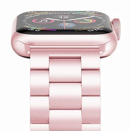 Amazon.com: Apple Watch Banda, wolait banda de acero ...