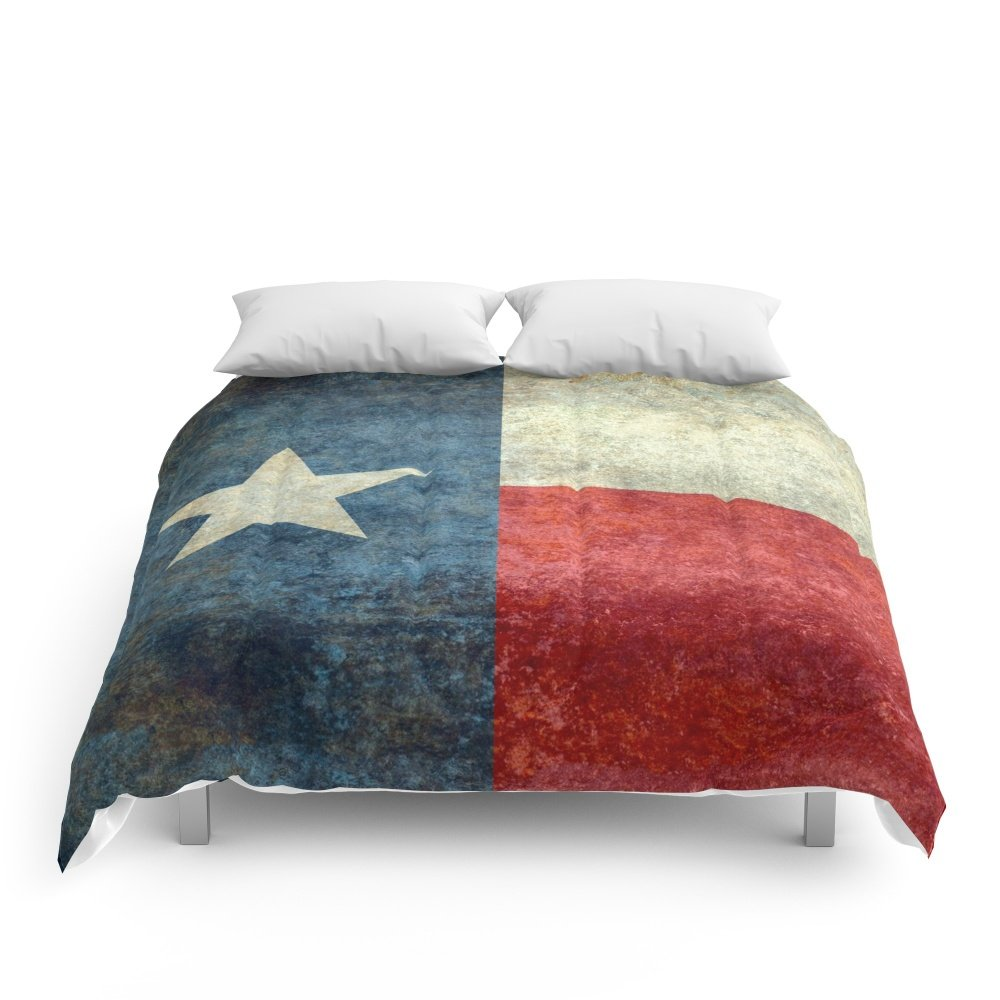 Society6 The State Flag Of Texas - The ''Lone Star Flag'' Of The ''Lone Star State'' Comforters Full: 79'' x 79''