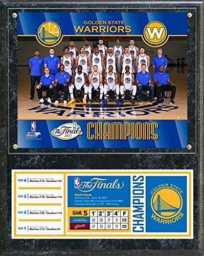 Golden State Warriors 2017 NBA Finals Champions Photo Plaque (Size: 12