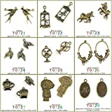 220 PCS Jewelry Making Charms Findings T0728 Raincoat Girl Jewellery Bronze Charme Supply Supplies Crafting Bracelet Wholesale Craft Alloys Lots Bulk Necklace Antique Retro DIY