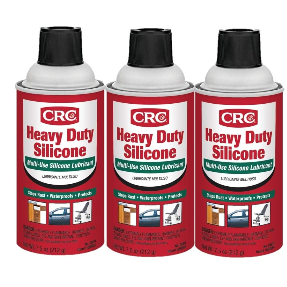 CRC 05074 Heavy Duty Silicone Lubricant - 7.5 Wt Oz. Pack of 3