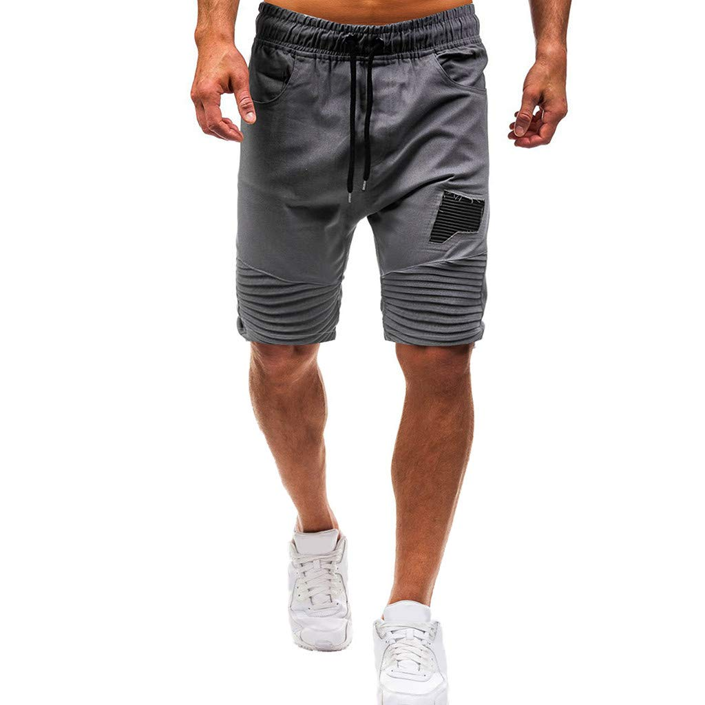 kemilove Mens Shorts Linen Like Board Short Walk Beach Classic Relaxed Fit Shorts