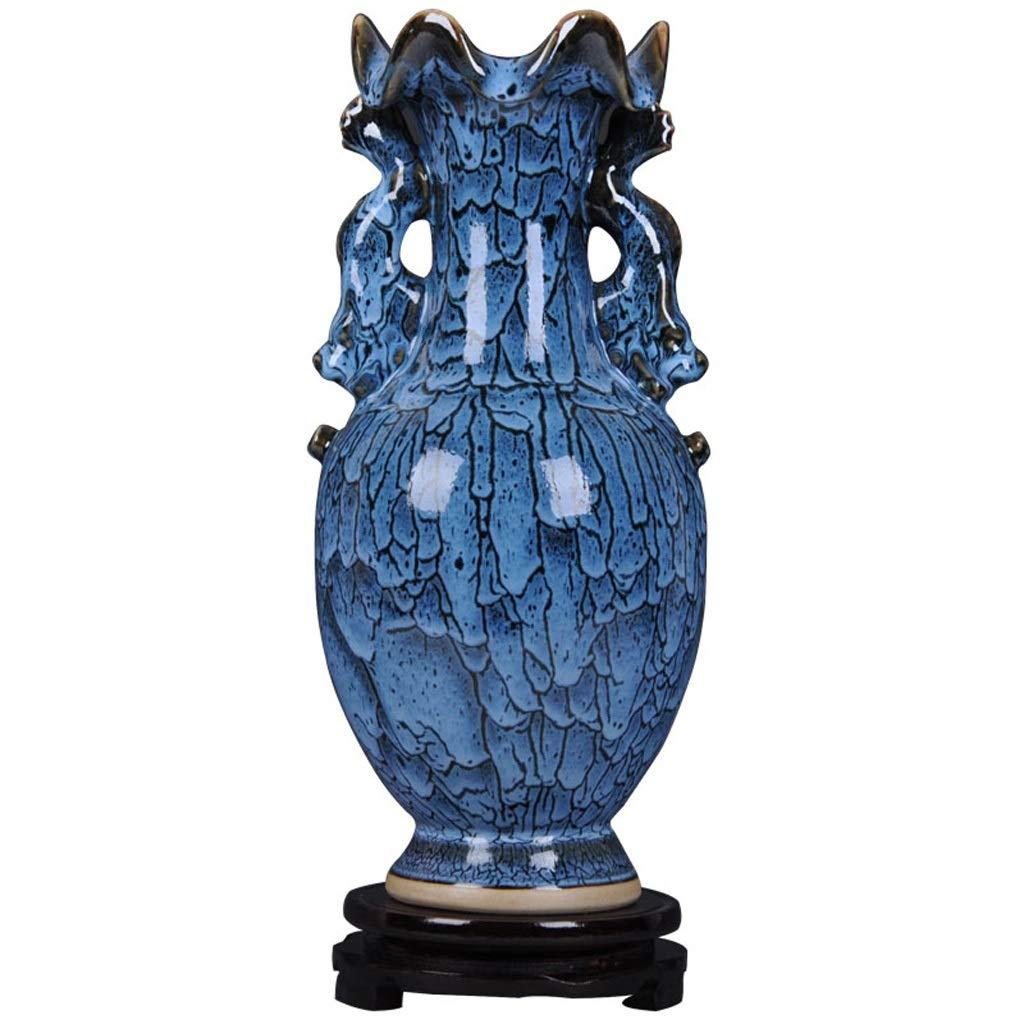 花瓶花瓶、棚の装飾、エナメルアンティーク、リビングルームの装飾、観音瓶 LQX (Edition : B) B07RVN61LL  B