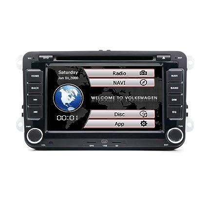 henhaoro - Reproductor de Radio estéreo para Coche, DVD, GPS, para VW, Passat, Pantalla táctil, 2 DIN Golf Polo