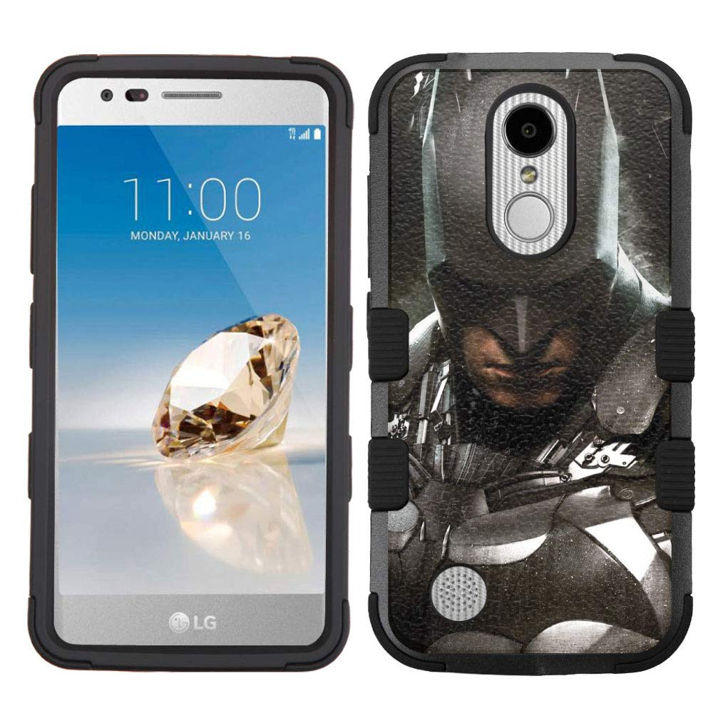 LG Aristo Case,LG Aristo 2 Case,LG Rebel 3 LTE Case,LG Aristo 2 Plus/LG Tribute Dynasty/Zone 4/Fortune 2/Phoenix 3/Rebel 2 LTE/K8+ Plus Case, Rugged Case - Batman #ZLH