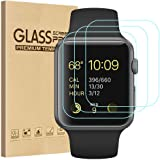 Tourist [3 Pack] Compatible for Apple Watch Tempered Glass Screen Protector 42mm Series 3/2 / 1, 9H Hardness, Anti…