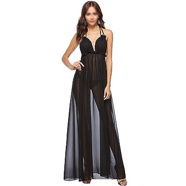 Sherry Dress Womens Sexy Deep V Neck Dress Backless Summer Beach Long Dress Evening Prom Gown