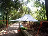 ELEVATED TENT DESIGN - The Skysurf is a lightweight, portable treehouse that lets you and a partner sleep up off the ground and away from ground water, predators, and even insects. EASY INSTALLATION - Using three hammock straps with a tensile stren...