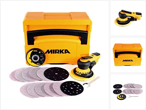 Mirka MID5650201CA - Materiales abrasivos deros 5650cv 5, 0 casos concentrador, 125/150 mm: Amazon.es: Bricolaje y herramientas