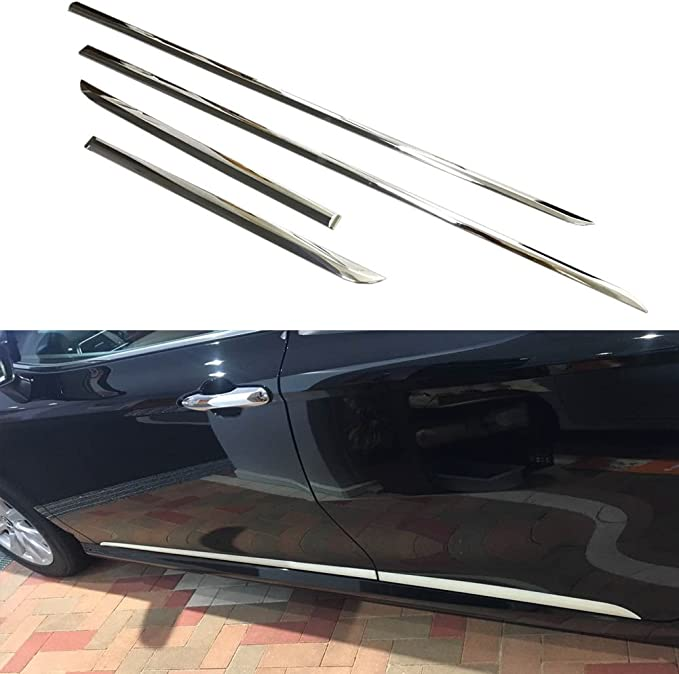 Beautost Fit For Toyota New Camry 2018 2019 L//LE//XLE Chrome Front Bumper Guard Protector Plate Cover Trim