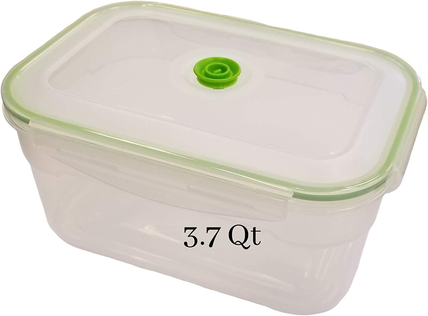 Lasting Freshness Vacuum Seal Food Storage Containers - Handheld Vacuum Food System - Quick Marinator - Rectangle - 3.5 Liter / 3.7 Qt / 0.9 Gallon - Coral Color