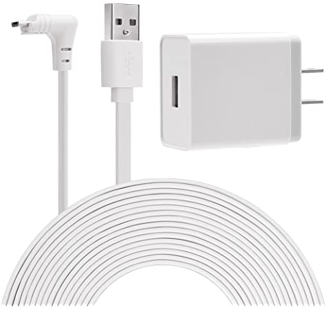 Aobelieve Outdoor Magnetic Charging Cable with Power Adapter for Arlo Pro 3 and Arlo Ultra Camera 20-Foot
