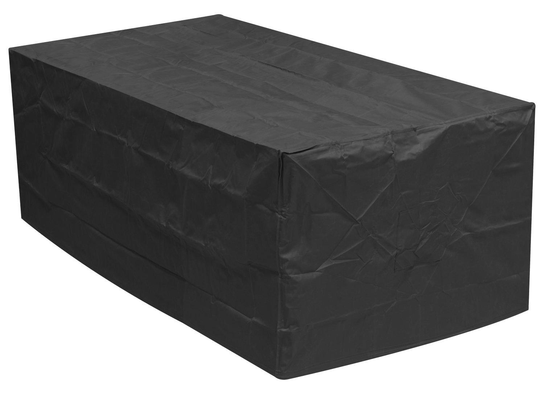 Black 4-6 Seater Rectangular Outdoor Garden Patio Furniture Set Cover 0.8m x 2.1m x 1.1m / 2.6ft x 6.8ft x 3.6ft 5 YEAR GUARANTEE Woodside