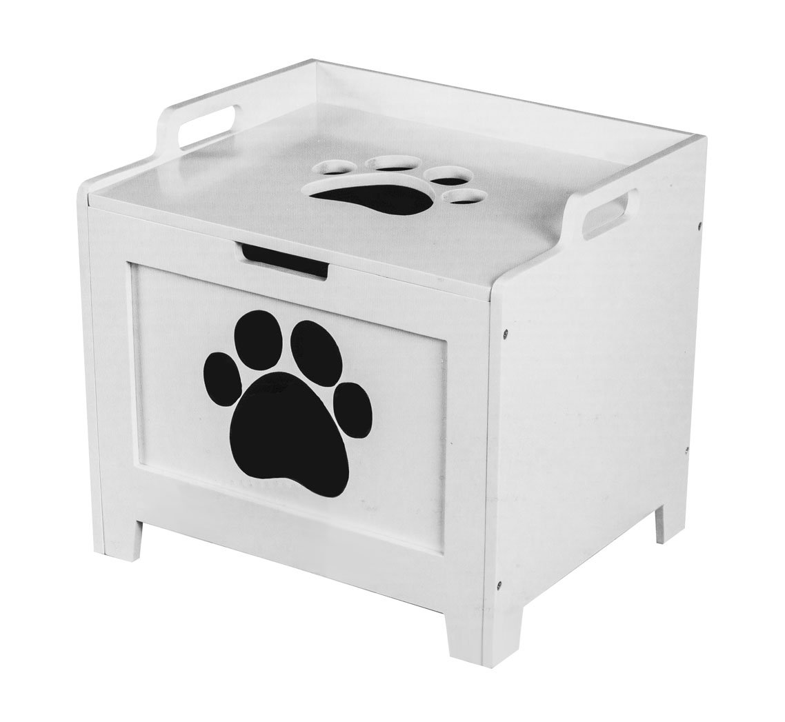 Pet Supplies : Childrens Storage Furniture : Paw Decor Walnut Wooden Pet  Toy Box : Amazon.com