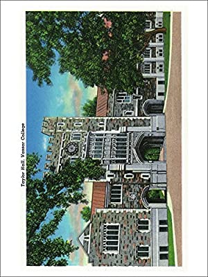 Poughkeepsie, New York - Exterior View of Taylor Hall, Vassar College (Playing Card Deck - 52 Card Poker Size with Jokers)