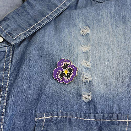 Enamel Flower Pin - CHoppyWAVE Men Women Enamel Flower Brooch Lapel Pin Denim Hat Suit Badge Jewlery Decor - Purple