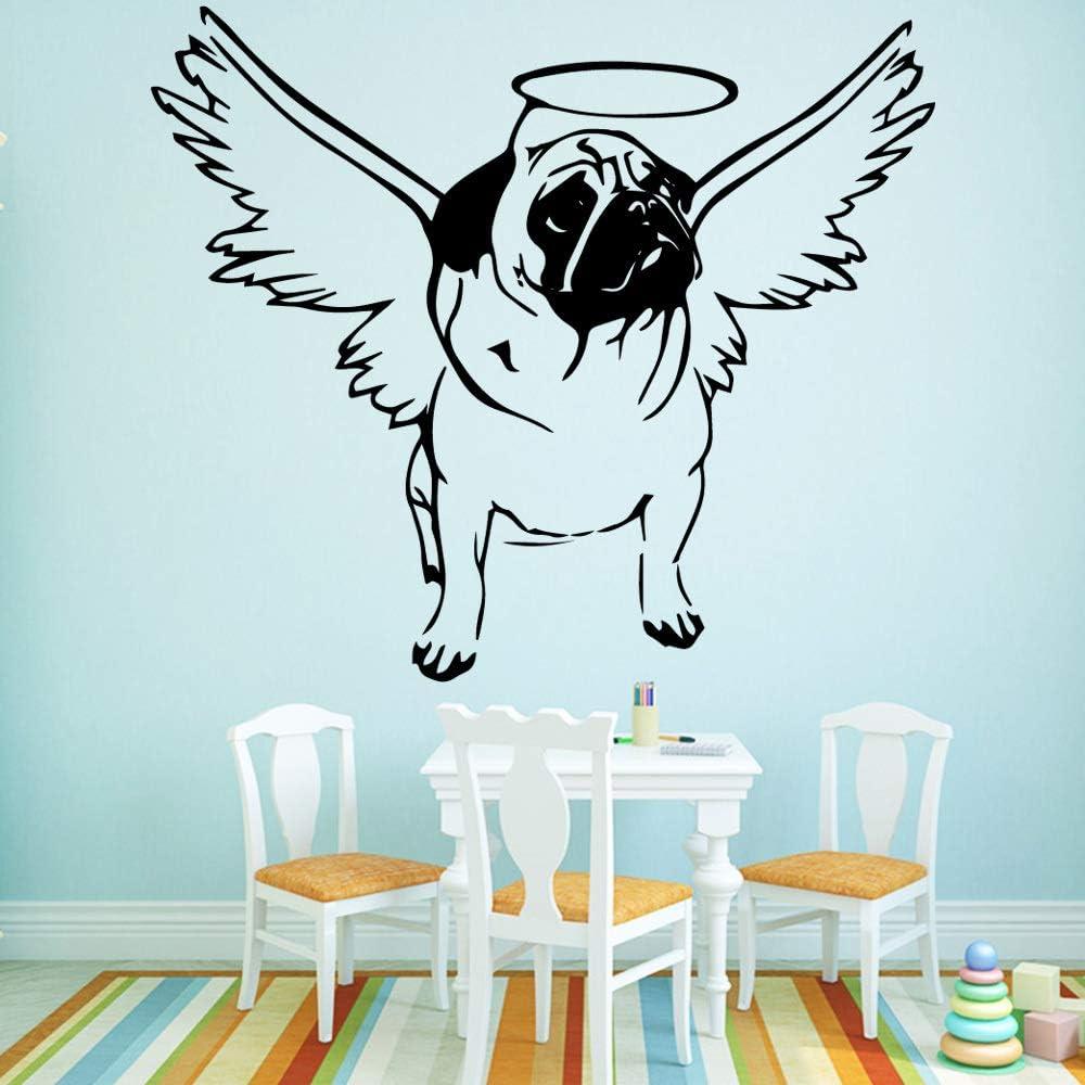YHZSML Modern Dog Angle Wall Art Decal Stickers de Pared Material de PVC para Habitaciones de bebés para niños Decoración de la habitación L 43cm X 49cm