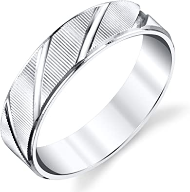 Jewels By Lux 925 Sterling Silver 3mm Milgrain Comfort Fit Mens Wedding Ring Band Size 14