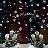 Natale Vetrofanie Display Rimovibile Adesivi Murali Fai da te Finestra Decorazione Vetrina Wallpaper fiocco di neve