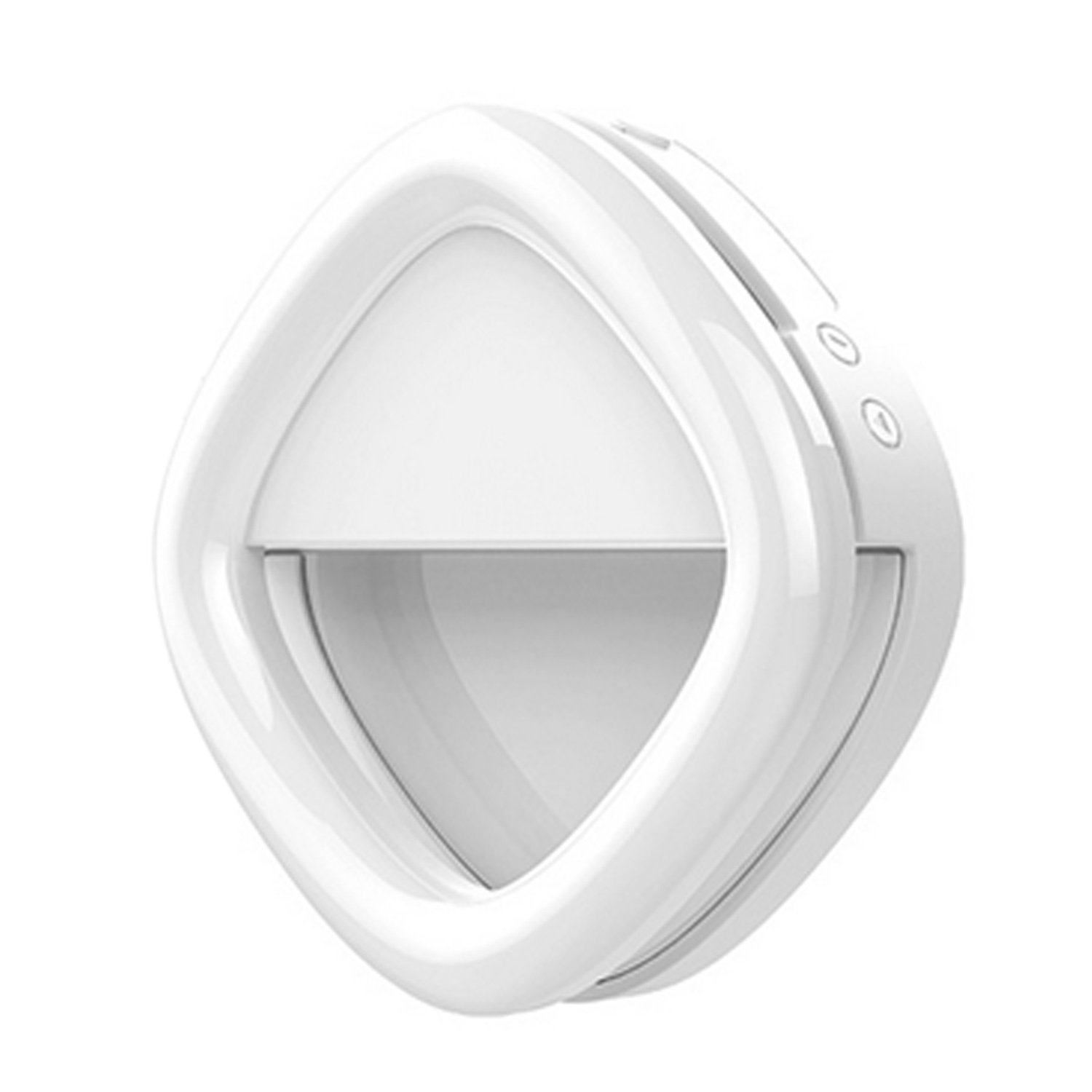 Phone Selfie LED Light Camera Ring Light Built in 800mAh Battery Power Bank for iPhone X 8 7 6 Plus iPad Cell Phones White