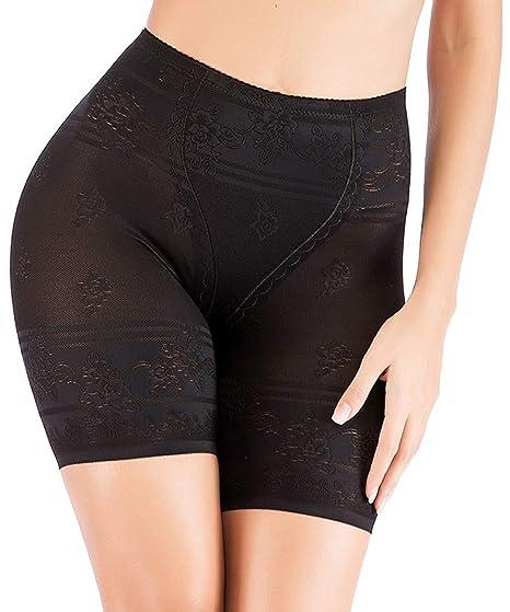 ed36e008bae8 DODOING Firm Tummy Control Panties for Women High Waist Shapewear Shorts  Seamless Thigh Slimmer Black