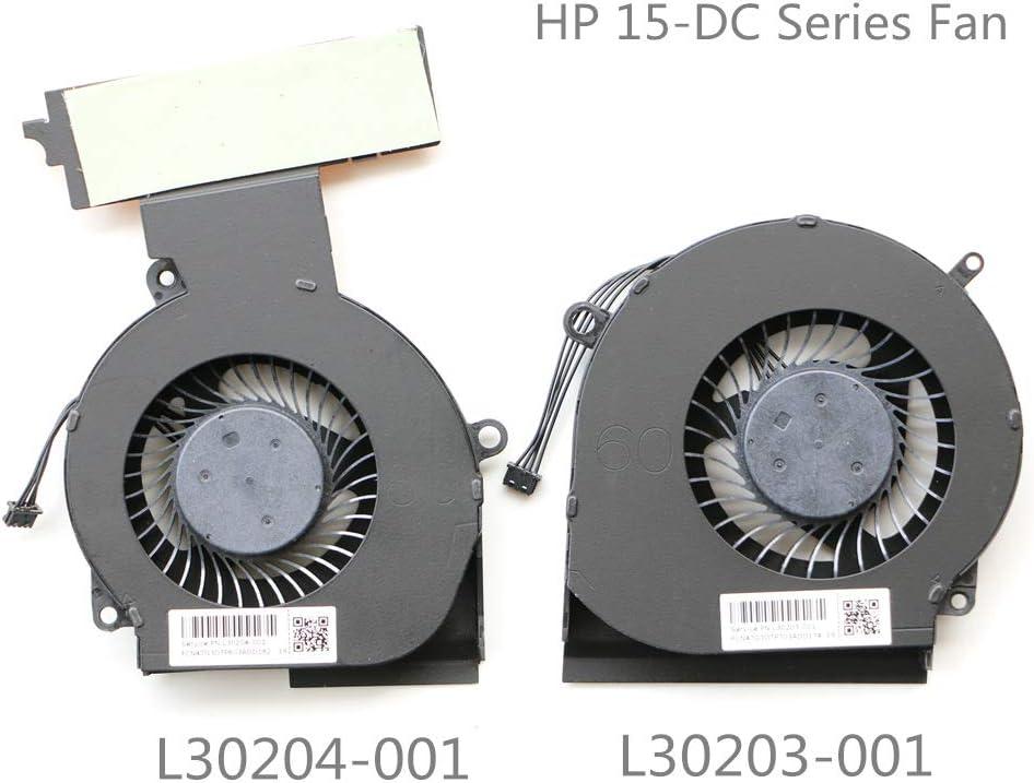 Laptop Fan for HP Omen 15-DC 15-DC0013TX 15-DC0004TX 15-DC0005TX 15-DC0007TX 15-DC0011TX 15-DC0123TX 15-DC0153TX CPU Cooling Fan L30203-001 L30204-001