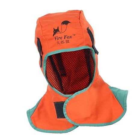 Blesiya Casco Safey Retardante A La Llama Capa Protectora Para El Cuello De Soldadura - naranja