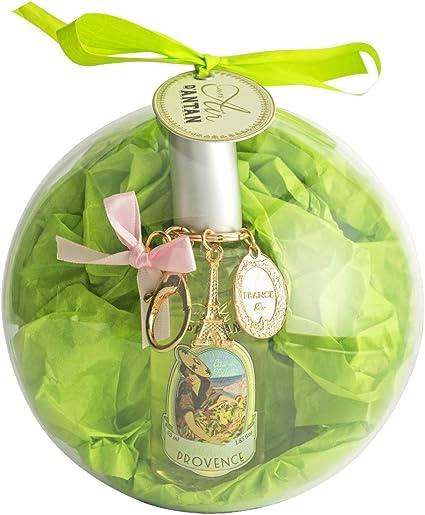 Caja Belleza en Bola, 1 Eau de Toilette de Mujer/Hombre Provence y 1 llavero de la Torre Eiffel Paris|Perfume Verbena, Bergamota, Limón, Colonia 55ml Navidad Regalo Mujer: Amazon.es: Belleza