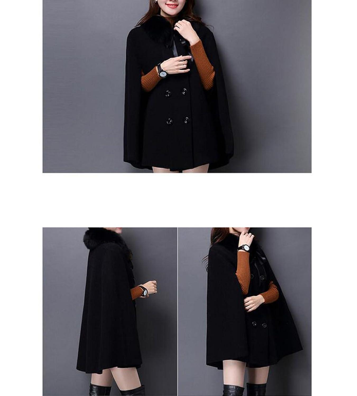 QPALZM Maglia Lavorata A Maglia Rossa Solida Del Mantello Rosso Scialle  Doppio Mantellato Mantello Del Collare,Black-OneSize: Amazon.it:  Abbigliamento