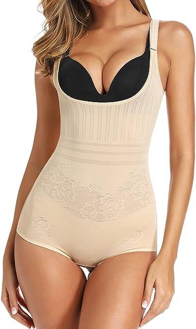 Shapewear for Women Tummy Control Bodysuit Seamless Open Bust Body Shaper