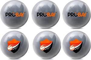 ProBay Weighted Baseballs for Strength, Hitting, Pitching & Throwing Accuracy. Softball Practice (16oz Each. 6 Count.).