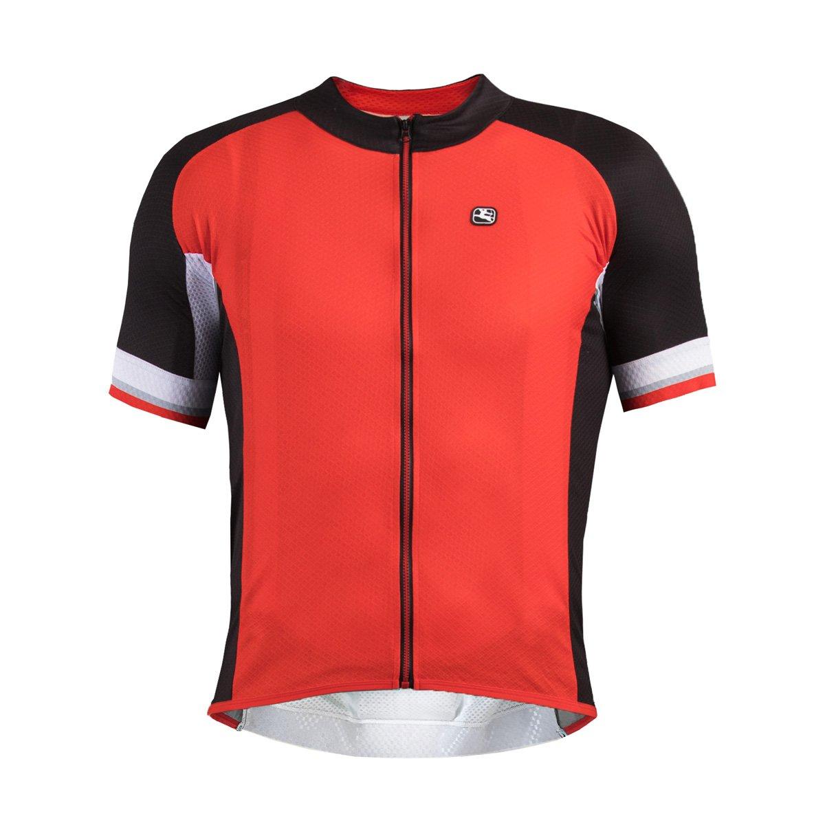 Giordana 2016メンズSilverline半袖サイクリングジャージー – gi-s6-ssjy-silv B077NXZ43H Medium|レッド/ブラック レッド/ブラック Medium