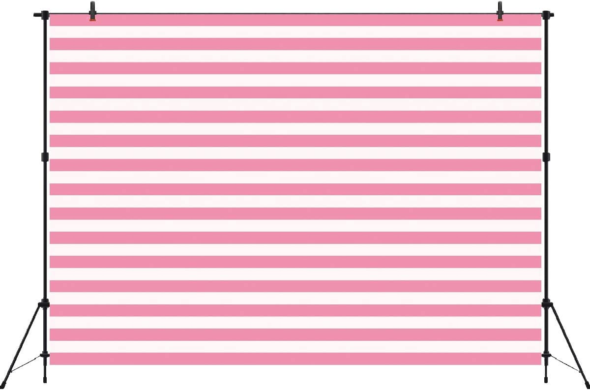 White and Pink Stripe Backdrop Photo Booth Background Valentine Abstract Photography Backdrops Girl's Birthday Party Decorations 7x5ft