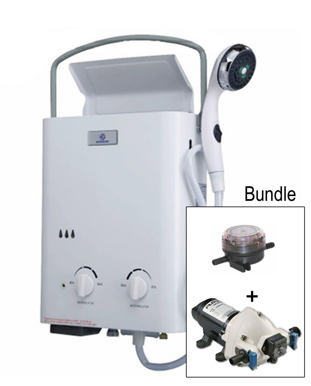 Eccotemp Systems L5 Pump/Strainer Bundle L5 Tankless Water Heater with Flojet Pump and Strainer