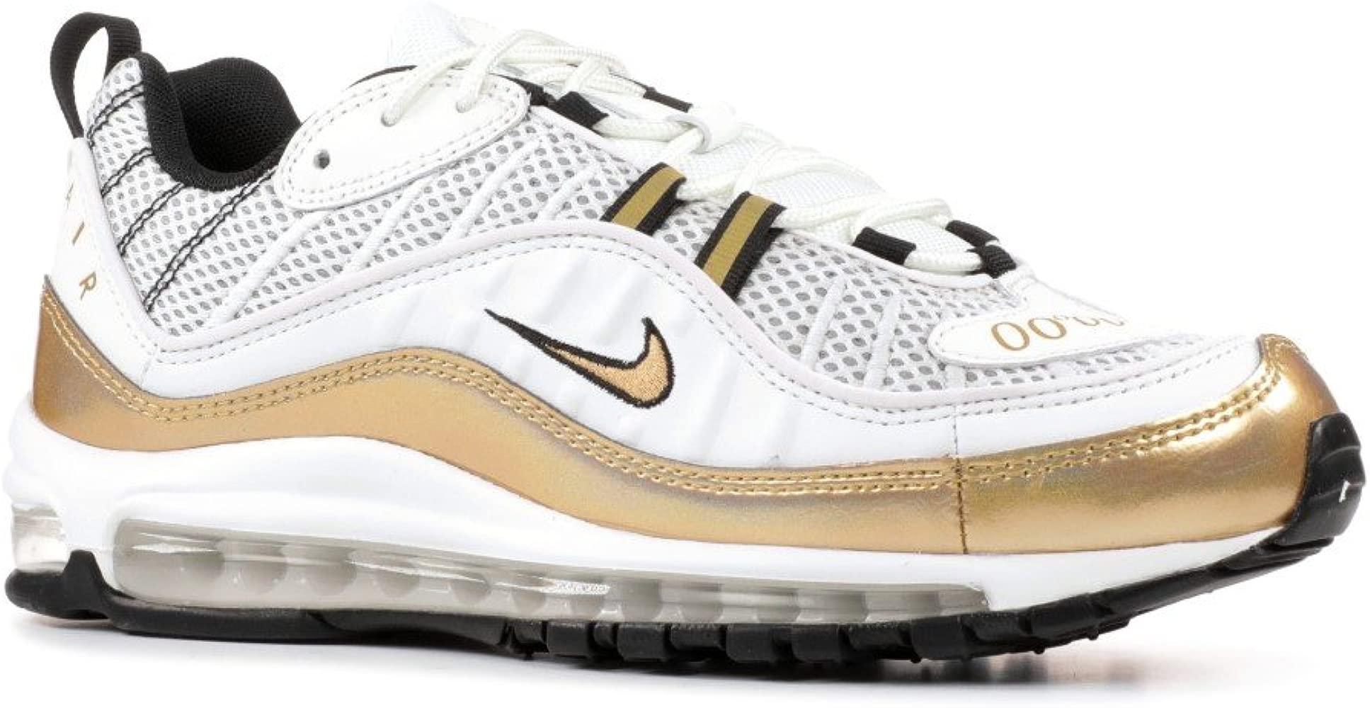 Nike Air MAX 98 UK Summit WhiteMetallic Gold Número 41