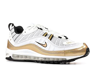 Nike Air Max 98 UK AJ6302 100 Summit White Metallic Gold Size  6.5 UK 83eb45891