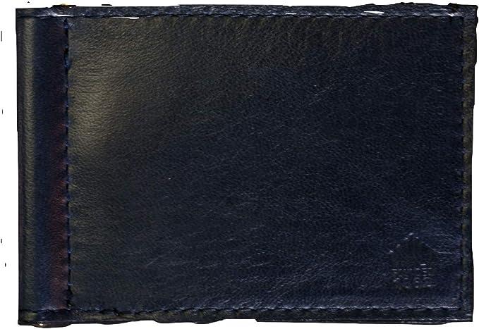 Wilt 1862 Navy Wabash Leather Money Clip Card Wallet
