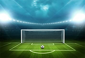 Amazon Com Aofoto 7x5ft Soccer Field Background Football Pitch Goal Post Ball Game Stadium Spotlight Photography Backdrop Sports Club Fitness Player School Match Photo Studio Props Kid Boy Portrait Wallpaper Camera