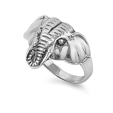 bague argent elephant