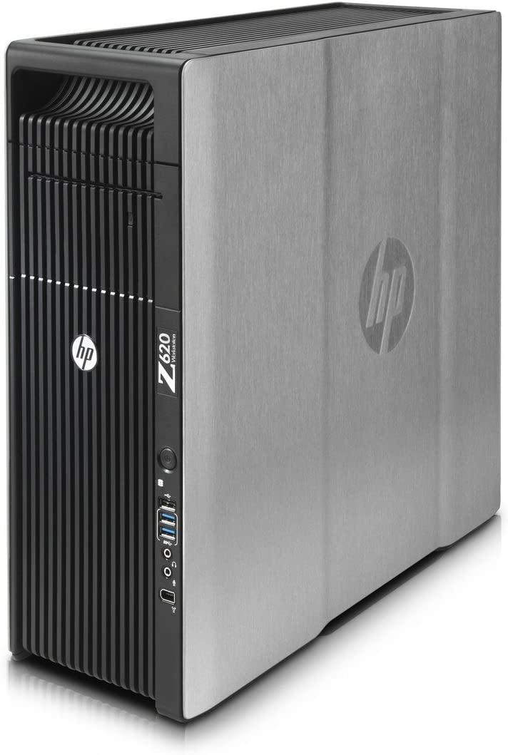 HP Z620 Workstation, 2x Intel Xeon E5-2670 2.6GHz Eight Core CPU s, 96GB memory, 256GB SSD, 1TB Hard Drive, NVIDIA Quadro 600, Windows 7 Professional Installed Renewed