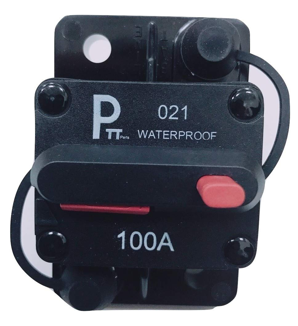 Photo-Top 25A-150A Hi-Amp Circuit Breaker T3+Switch with Manual Reset Water Proof