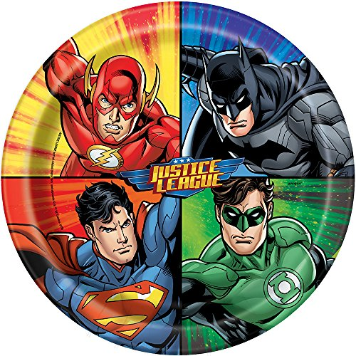 Justice League Dinner Plates 8ct