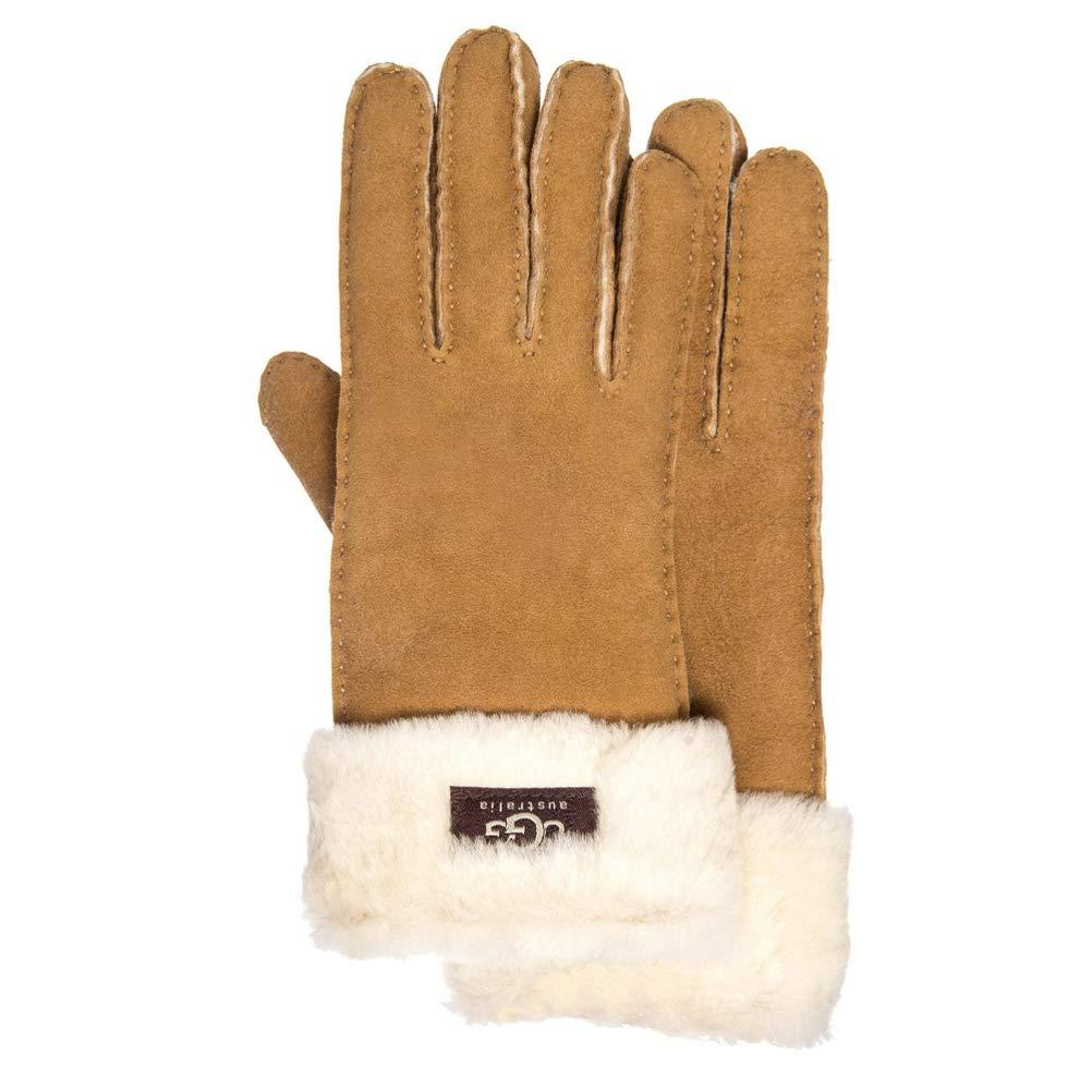 UGG Tenney Logo Glove (Large, Chestnut)