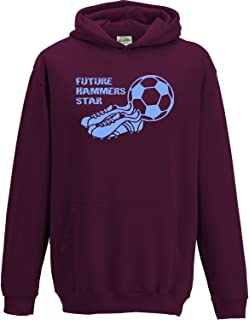 100/% WEST HAM FAN SWEATSHIRT KIDS