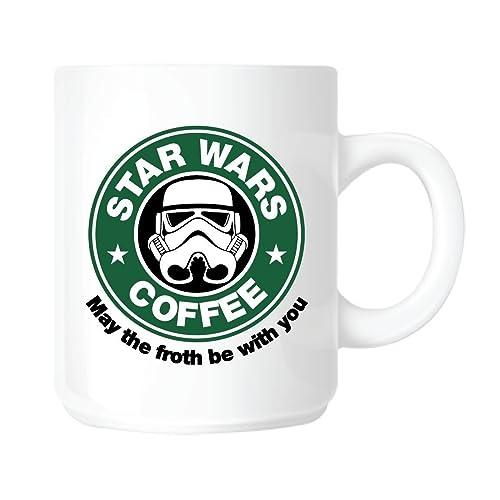 Top Banana Tasse Star Wars parodiant Starbuck En céramique, passe au lave-vaisselle