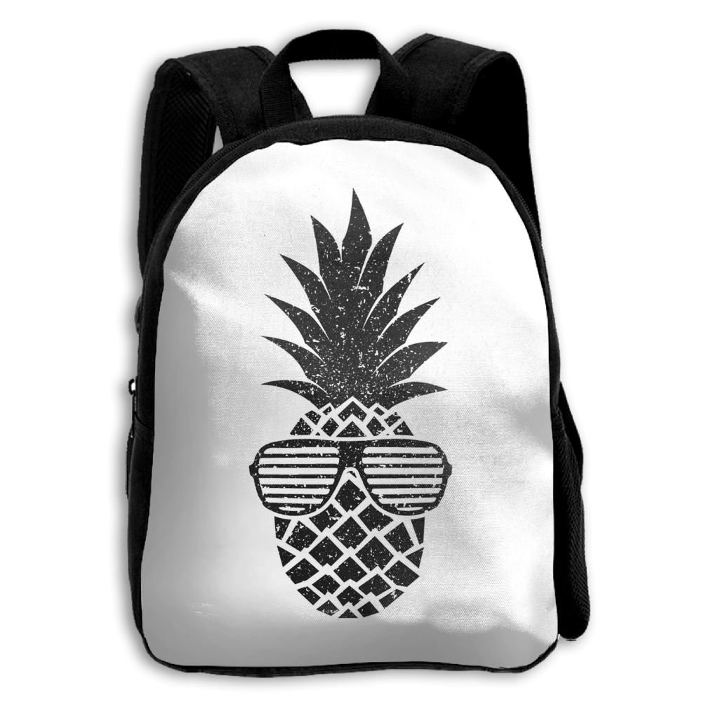 Fashion School Backpack Black Sunglasses Pineapple Outdoor Casual Shoulders Multipurpose Backpack Travel Bags For Children,Kids