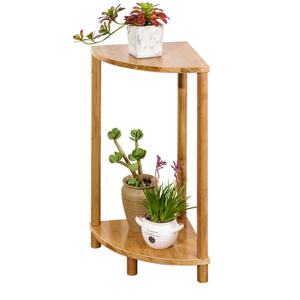QARYYQ Flower Stand Combination Fan-Shaped Balcony Decoration Frame Solid Wood Multi-Layer Display Rack Storage Rack Flower Stand (Size : 3060cm)