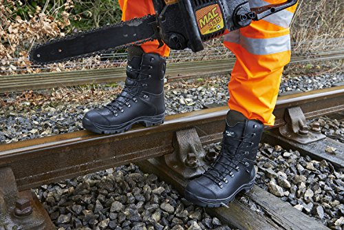Chatsworth Safety Steel Boots Rock Boots Black RF328 Fall Cap Kevlar Chainsaw Toe OZO1qRAx