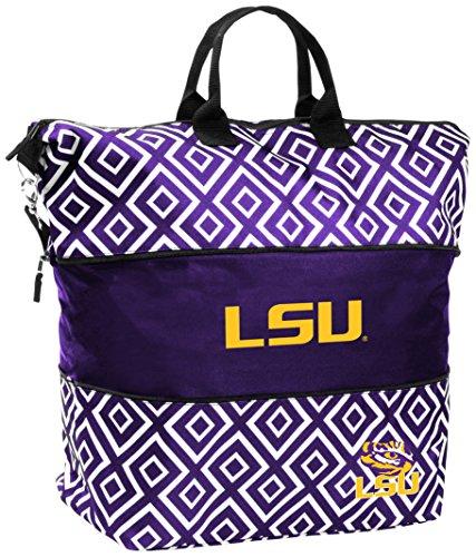Logo Brands NCAA LSU Tigers Erwachsene erweiterbar Tote, Violett